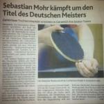Gehörlosenturnier Zeitungsartikel Ankündigung