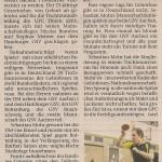 Zeitungsartikel Nachbericht