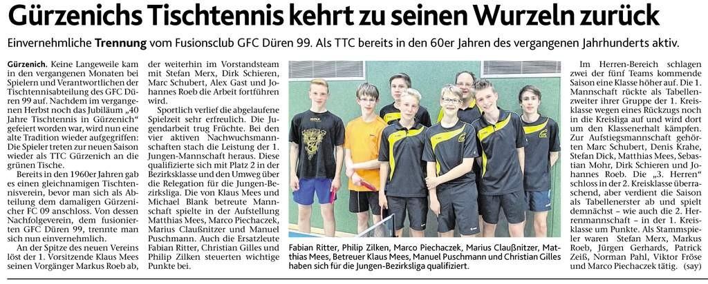 Zeitungsartikel 07-2015 TT Gürzenich